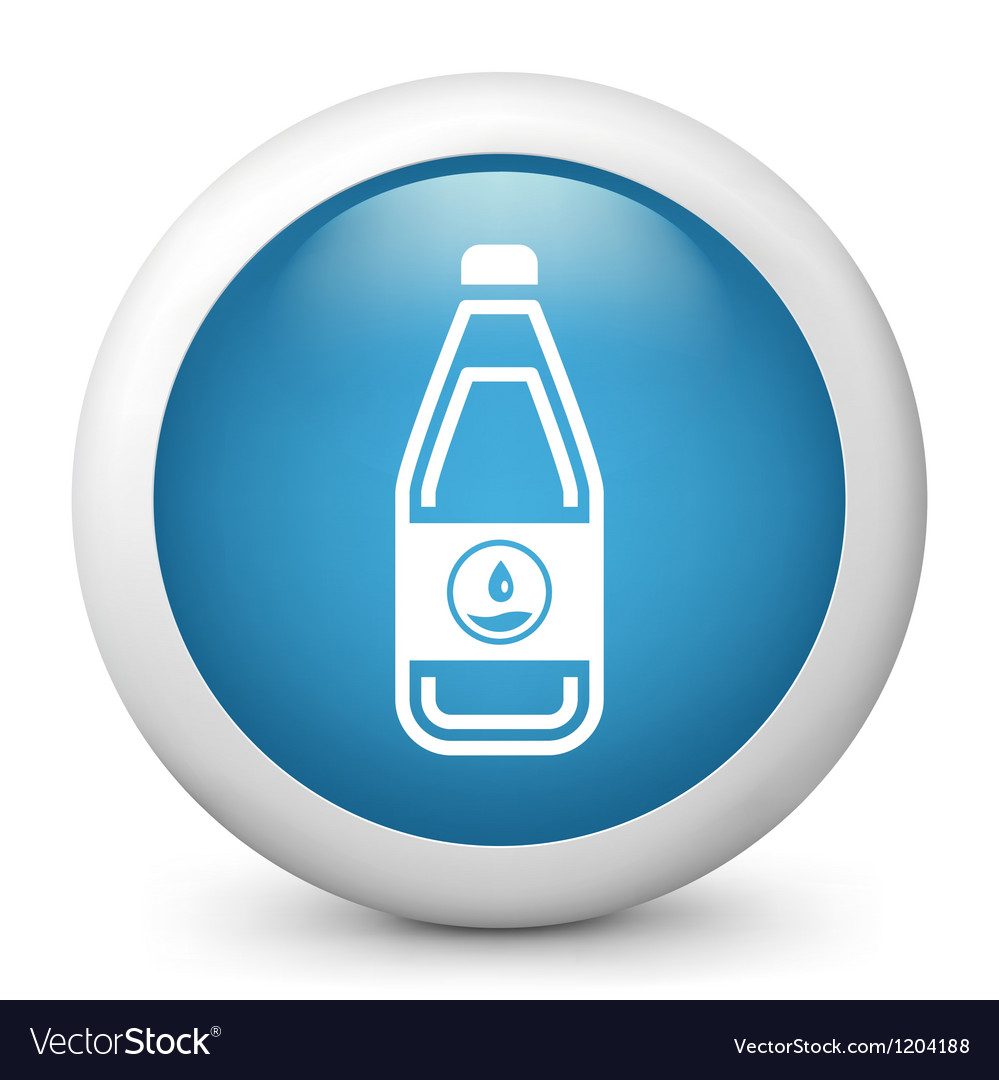 Water bottle glossy icon vector | Price: 1 Credit (USD $1)