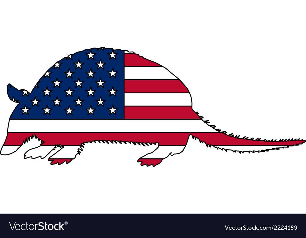 Armadillo united states of america vector | Price: 1 Credit (USD $1)