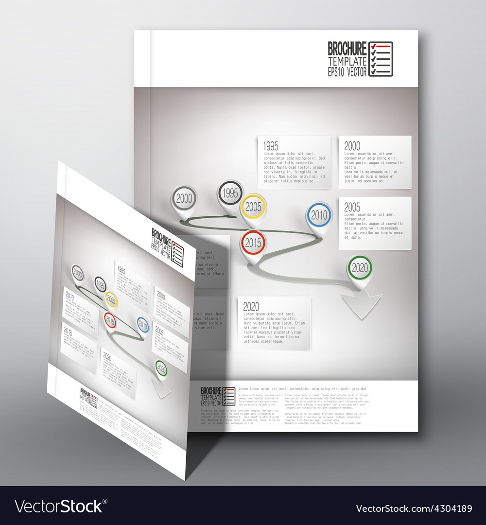 Arrow with pointer marks brochure flyer or vector | Price: 1 Credit (USD $1)