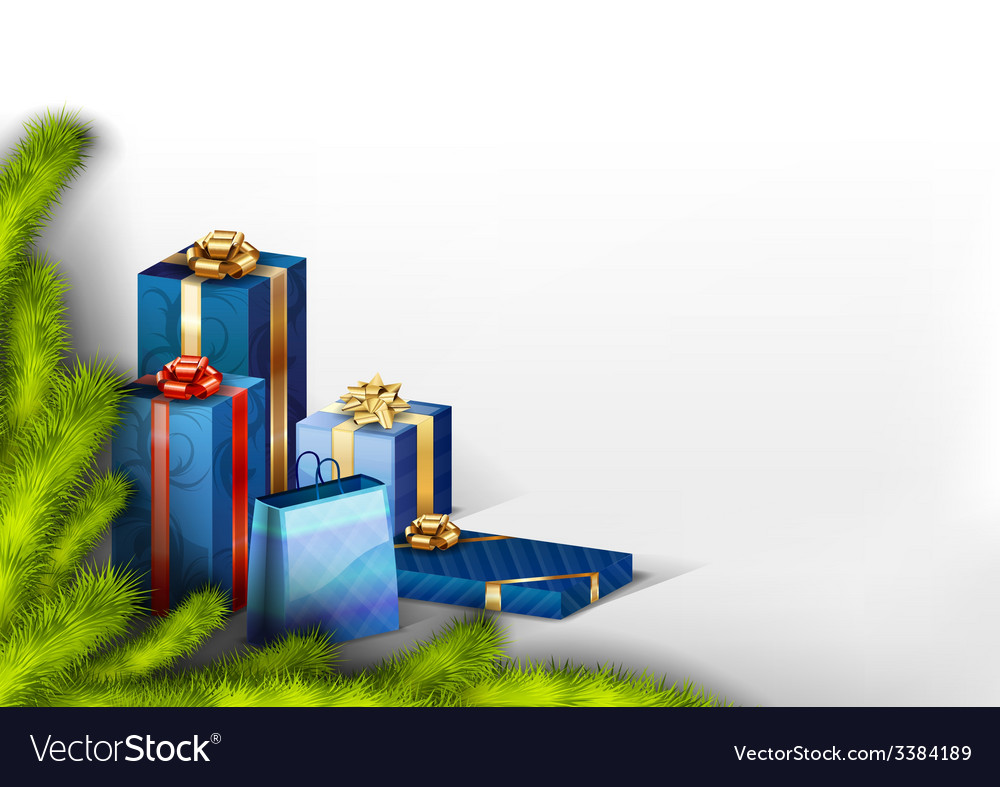 Blue gifts vector | Price: 1 Credit (USD $1)