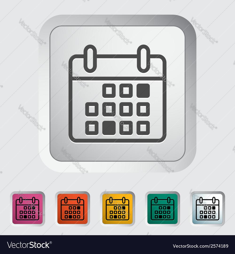 Calendar stroke icon vector | Price: 1 Credit (USD $1)