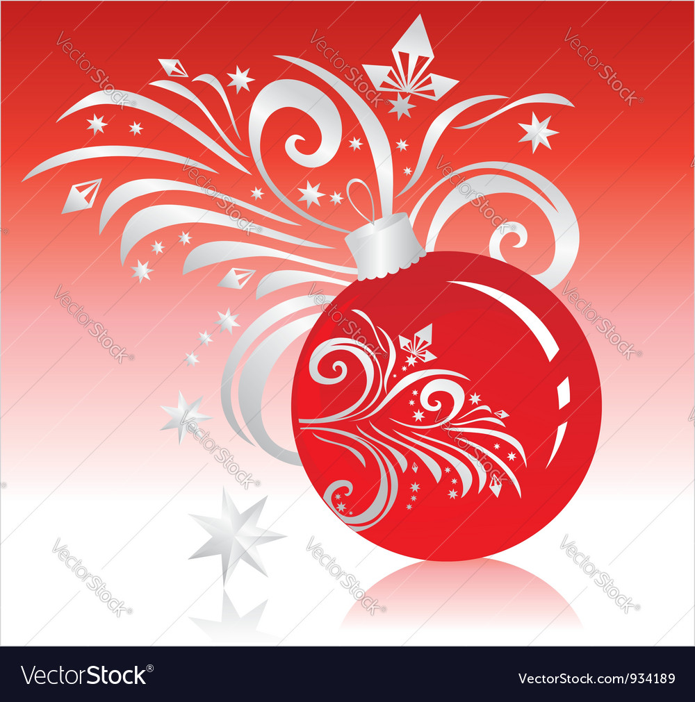 Christmas-tree decoration with a pattern vector | Price: 1 Credit (USD $1)