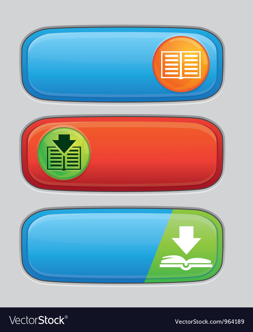 Download button for electronic book vector | Price: 1 Credit (USD $1)