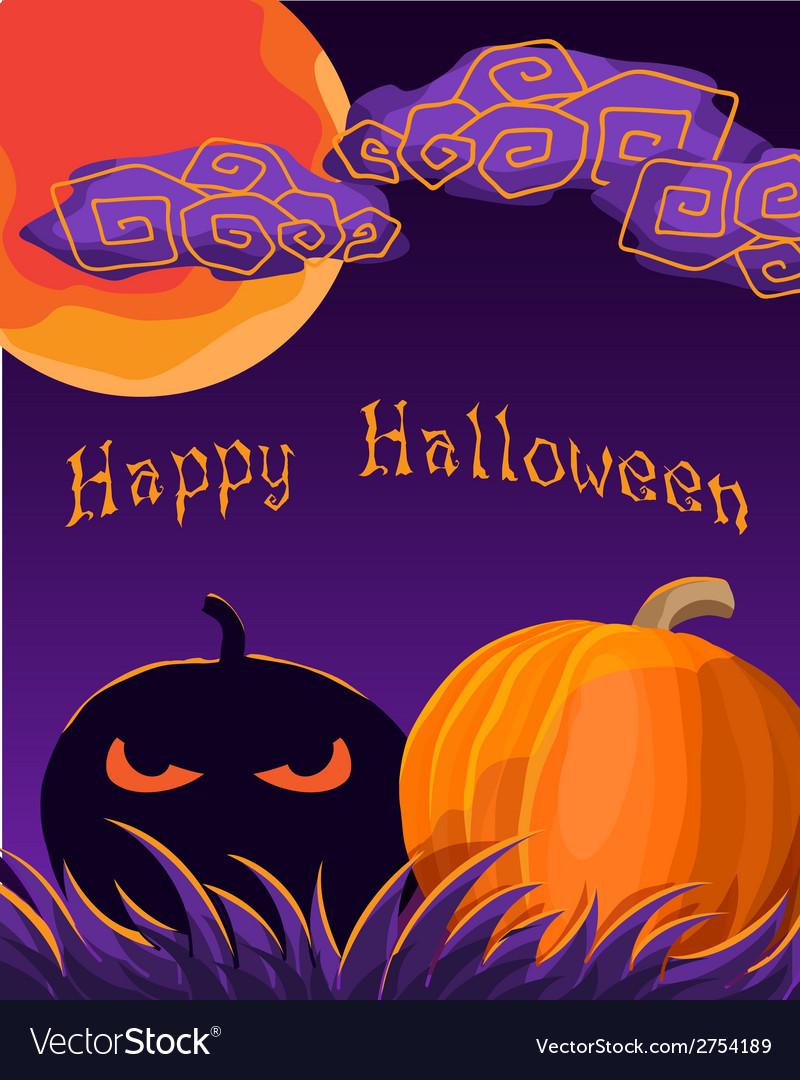 Halloween greetings vector | Price: 1 Credit (USD $1)