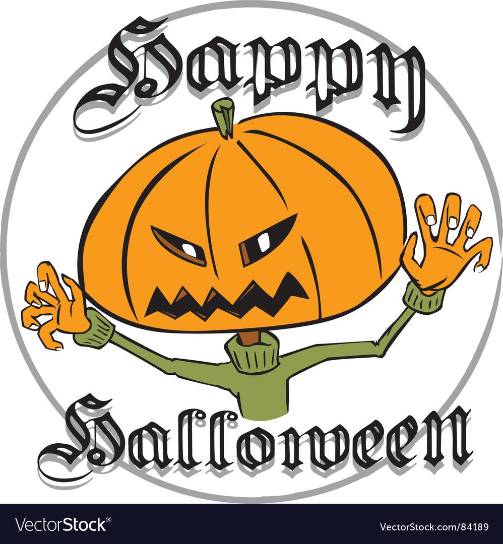 Halloween jack-o-lantern vector | Price: 1 Credit (USD $1)