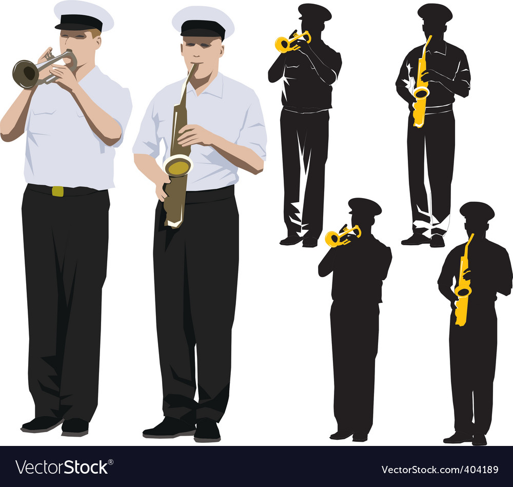 Military musicians vector | Price: 3 Credit (USD $3)
