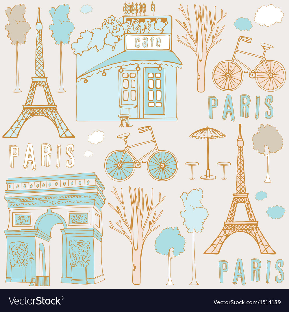 Paris symbols vector | Price: 3 Credit (USD $3)