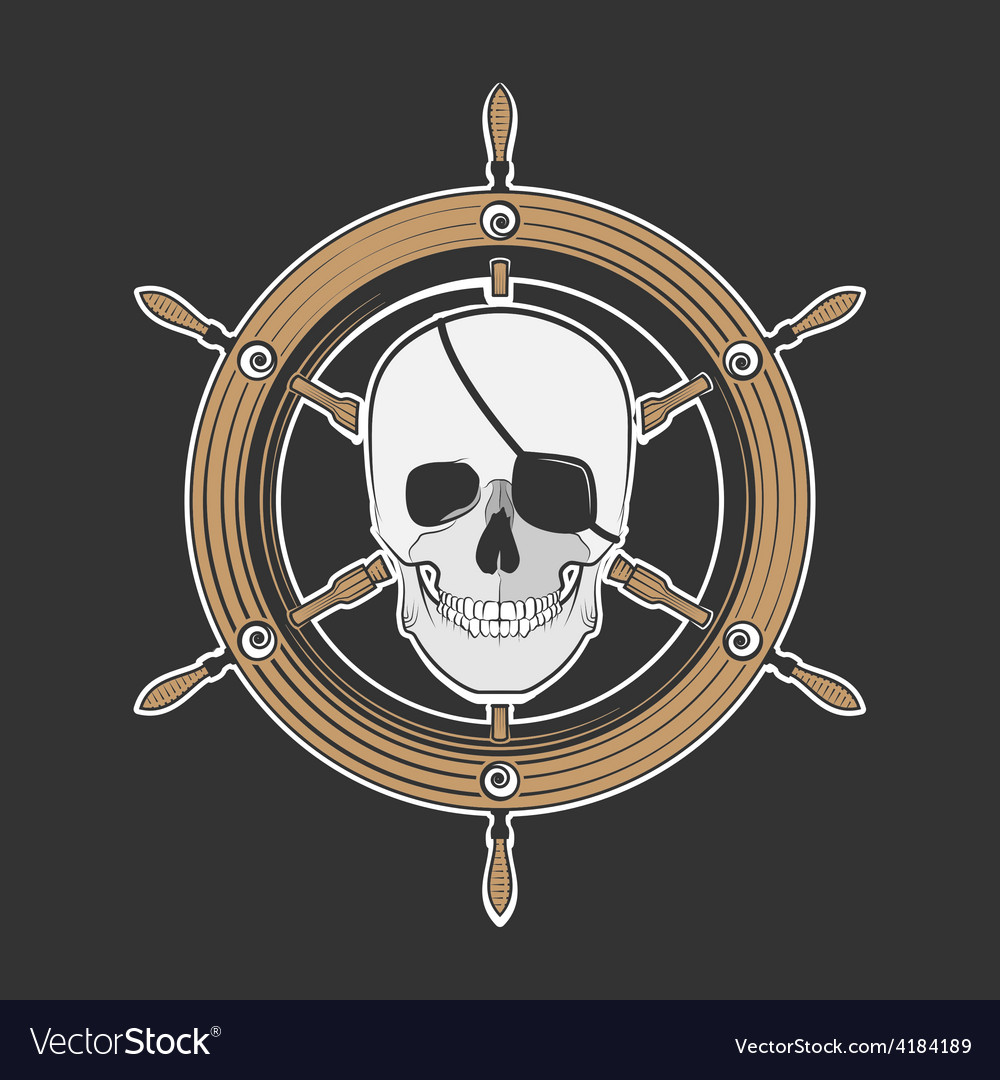 Skull pirate vector | Price: 1 Credit (USD $1)