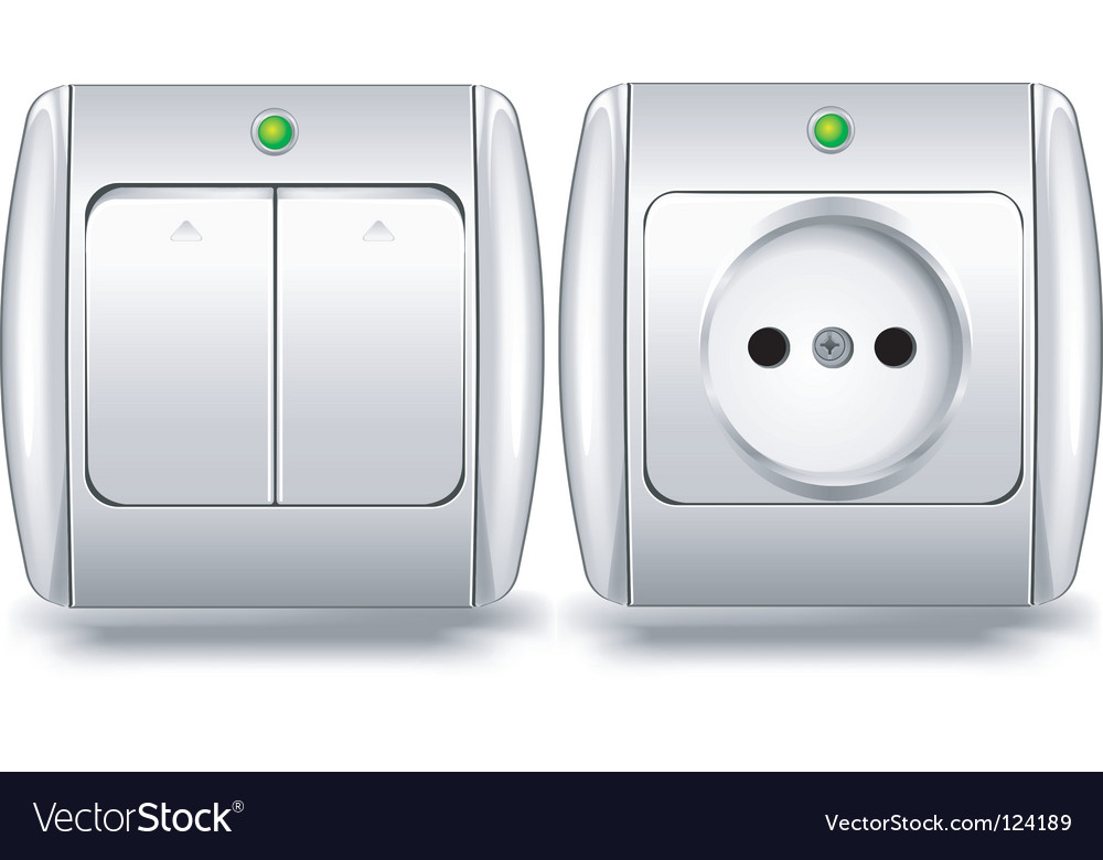 Switch and socket vector | Price: 1 Credit (USD $1)