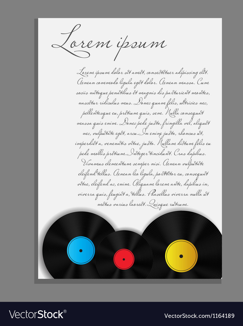 Vinyl record background blank page vector | Price: 1 Credit (USD $1)