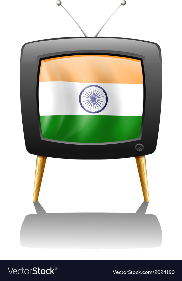 A television with the flag of india vector | Price: 1 Credit (USD $1)