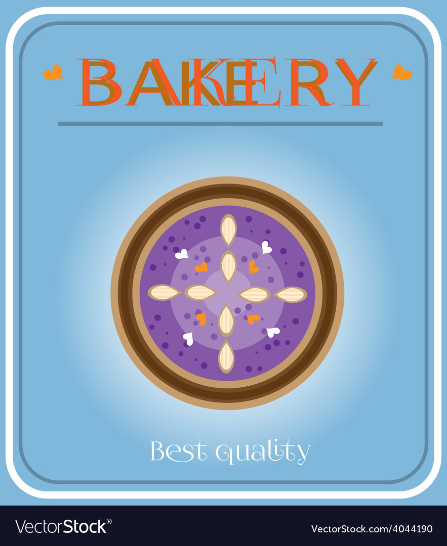 Bakery with plum cake vector | Price: 1 Credit (USD $1)