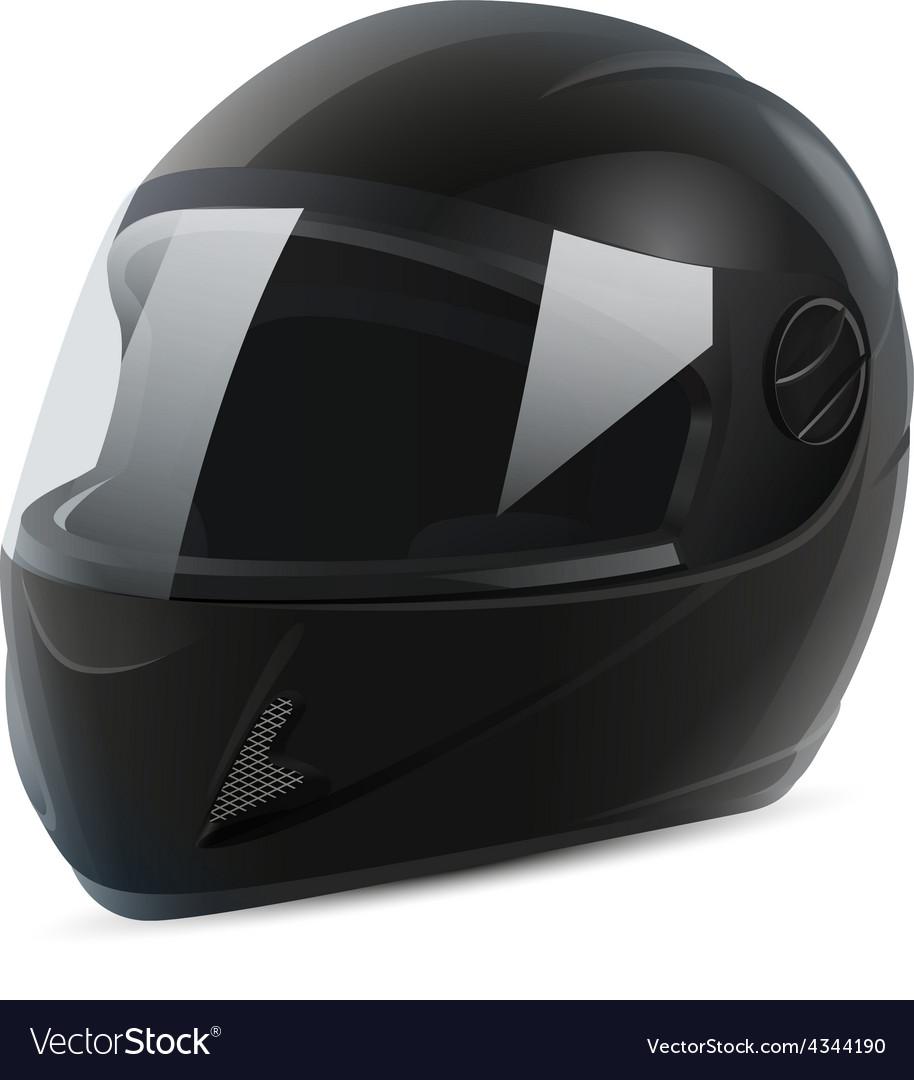 Black motorcycle helmet vector   Price: 1 Credit (USD $1)