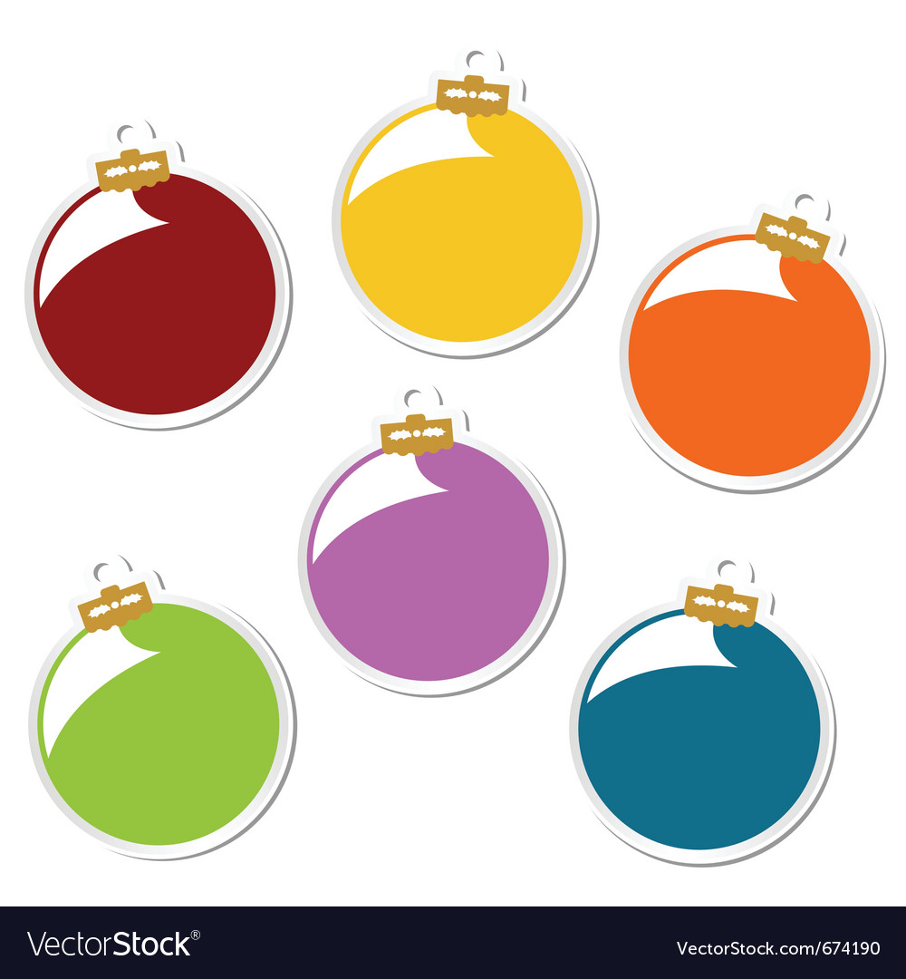 Christmas balls stickers vector   Price: 1 Credit (USD $1)