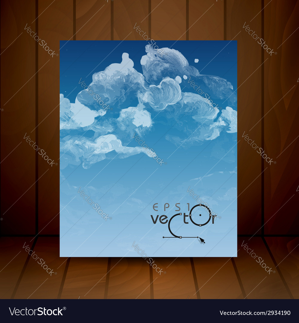 Cloud sky painted background vector   Price: 1 Credit (USD $1)