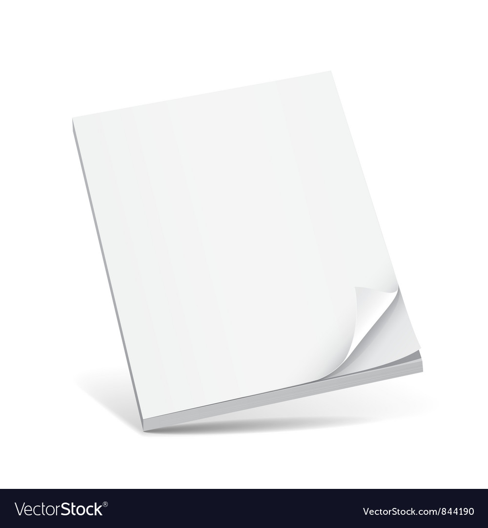 Cover white book with blank vector | Price: 1 Credit (USD $1)