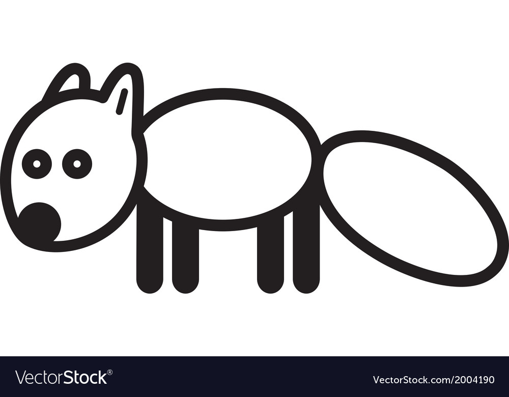 Cute animal polar fox - vector | Price: 1 Credit (USD $1)