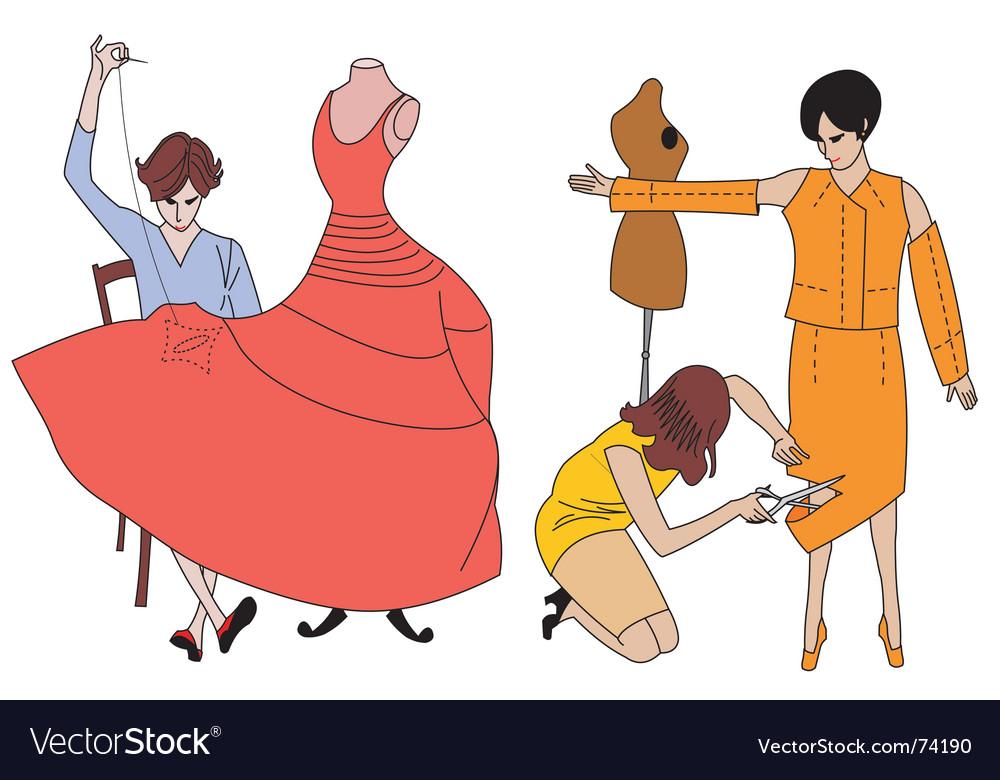 Dressmaker vector | Price: 1 Credit (USD $1)