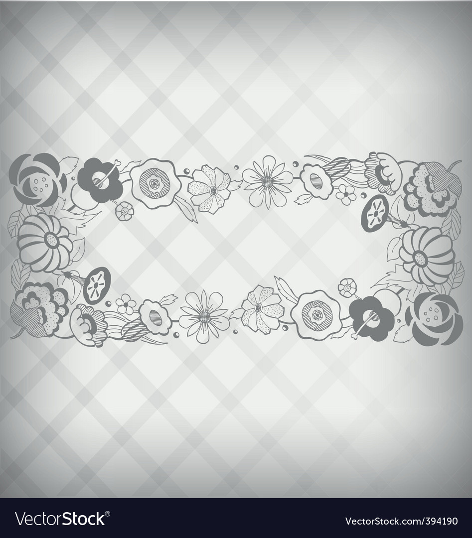 Floral nameplate vector | Price: 1 Credit (USD $1)