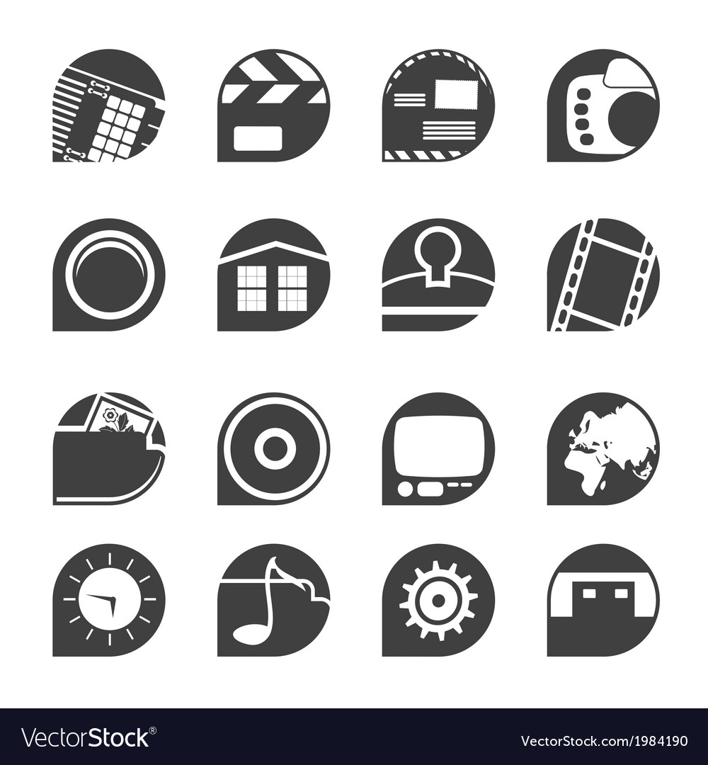 Internet and mobile phone icons vector | Price: 1 Credit (USD $1)
