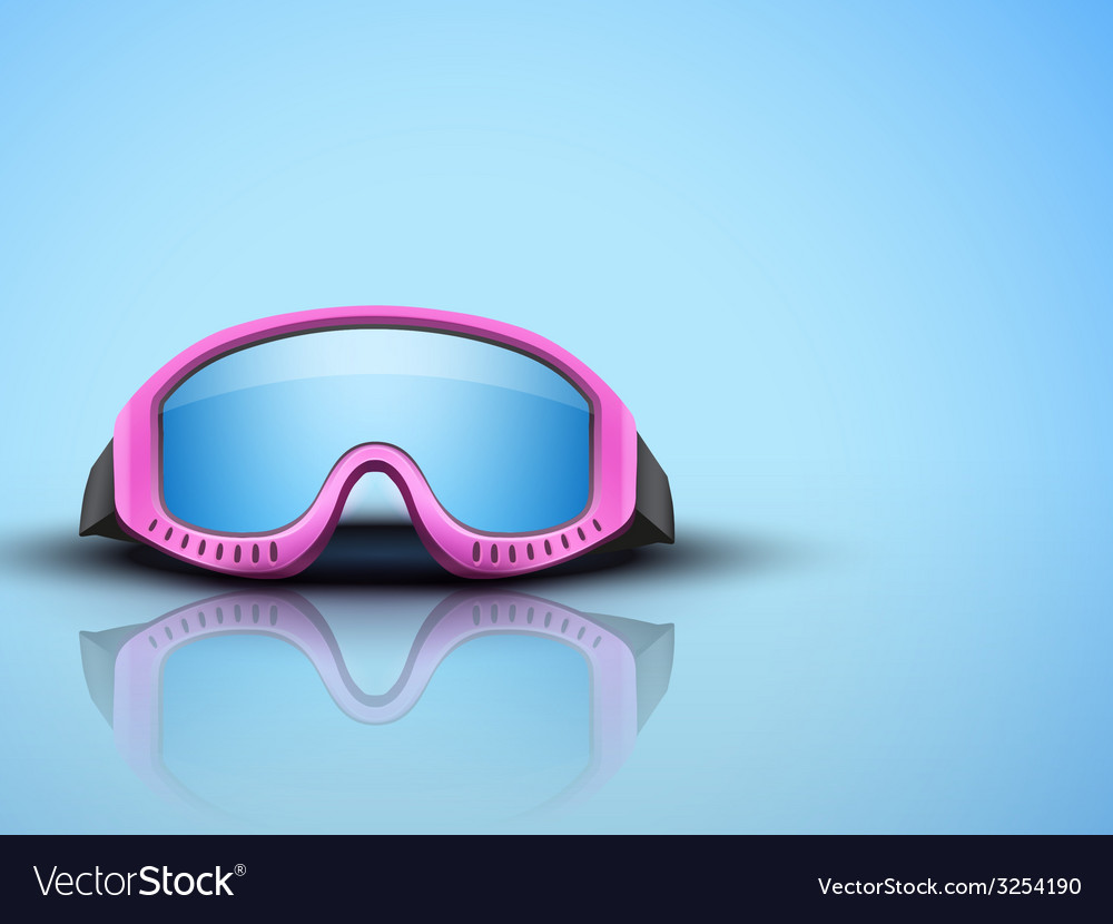 Light background with pink ski goggles vector   Price: 1 Credit (USD $1)