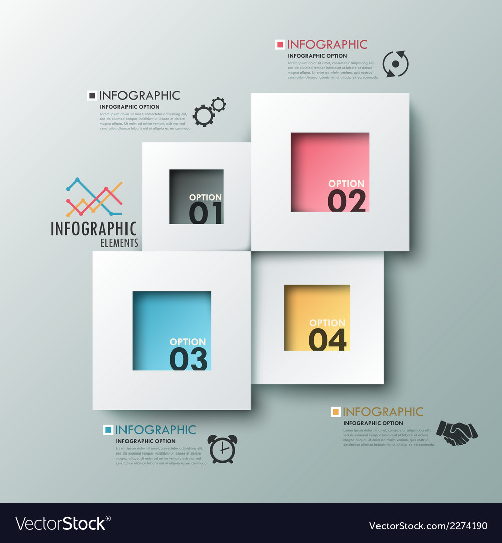 Modern infographic option banner vector | Price: 1 Credit (USD $1)