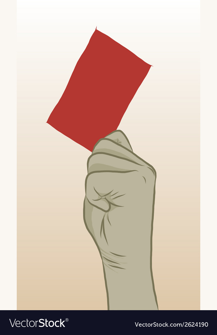 Redcard vector | Price: 1 Credit (USD $1)