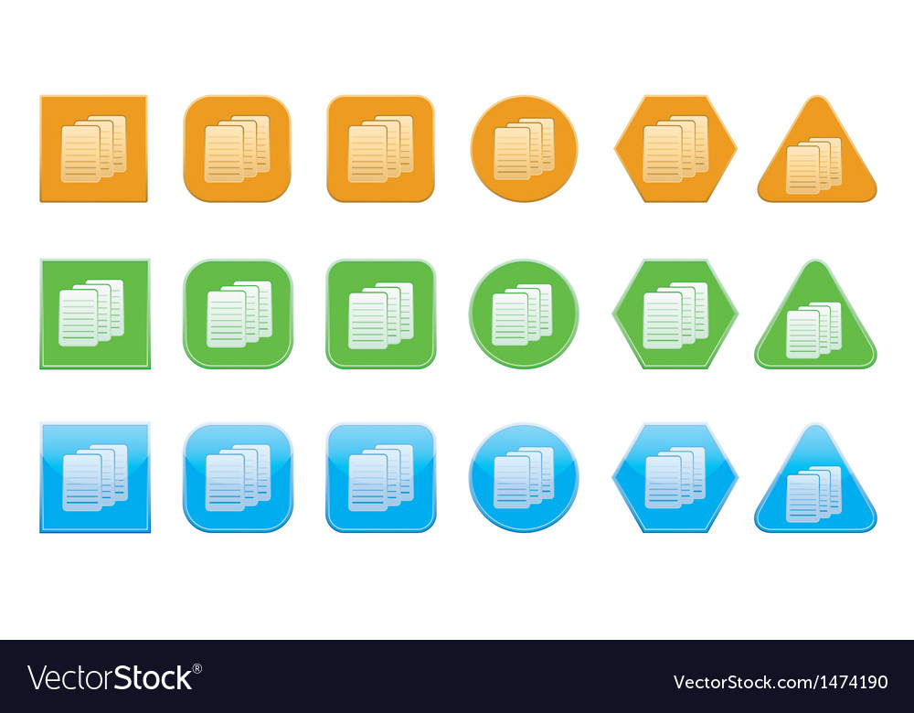 Set of documents icons vector | Price: 1 Credit (USD $1)