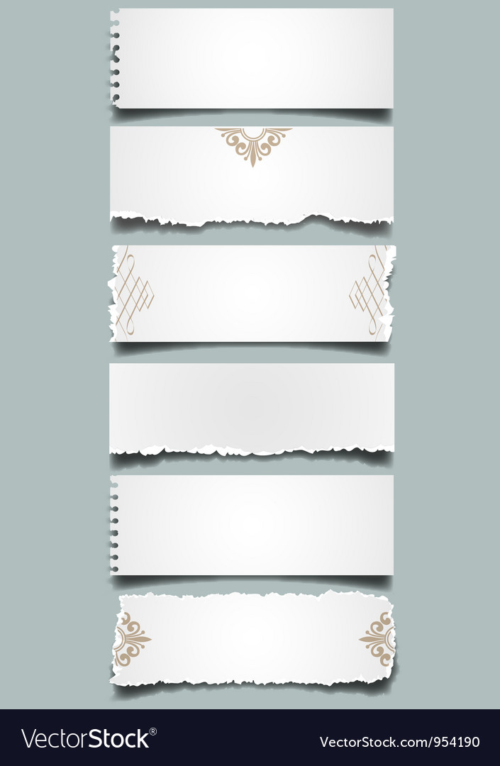 Six different notes paper vector | Price: 1 Credit (USD $1)