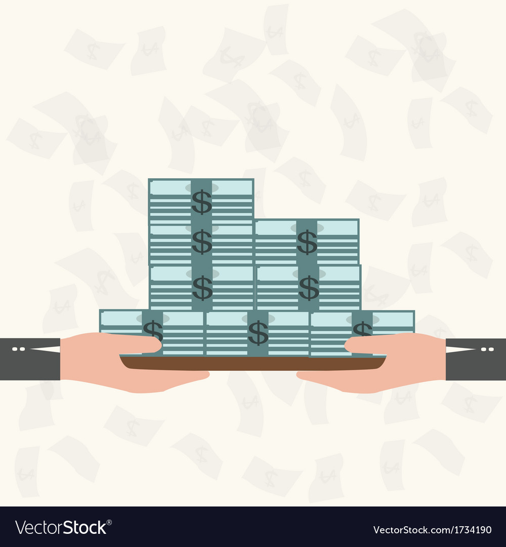 Waiter serving money business concept vector | Price: 1 Credit (USD $1)