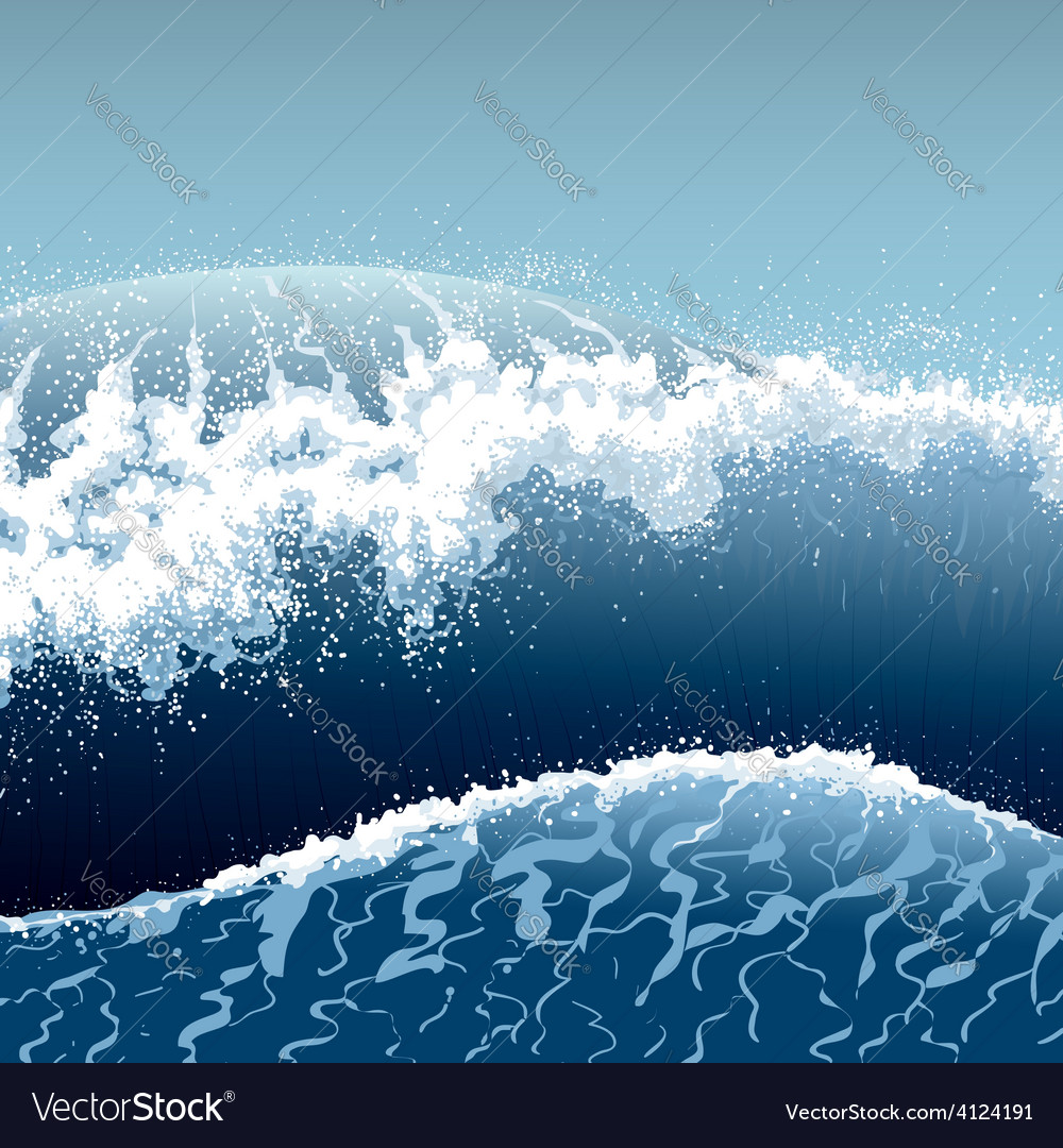 Blue waves vector | Price: 3 Credit (USD $3)