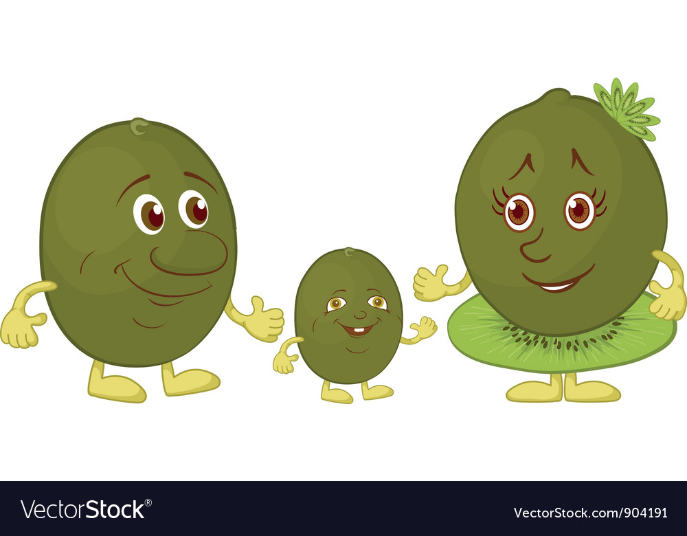 Character kiwi fruit vector | Price: 1 Credit (USD $1)