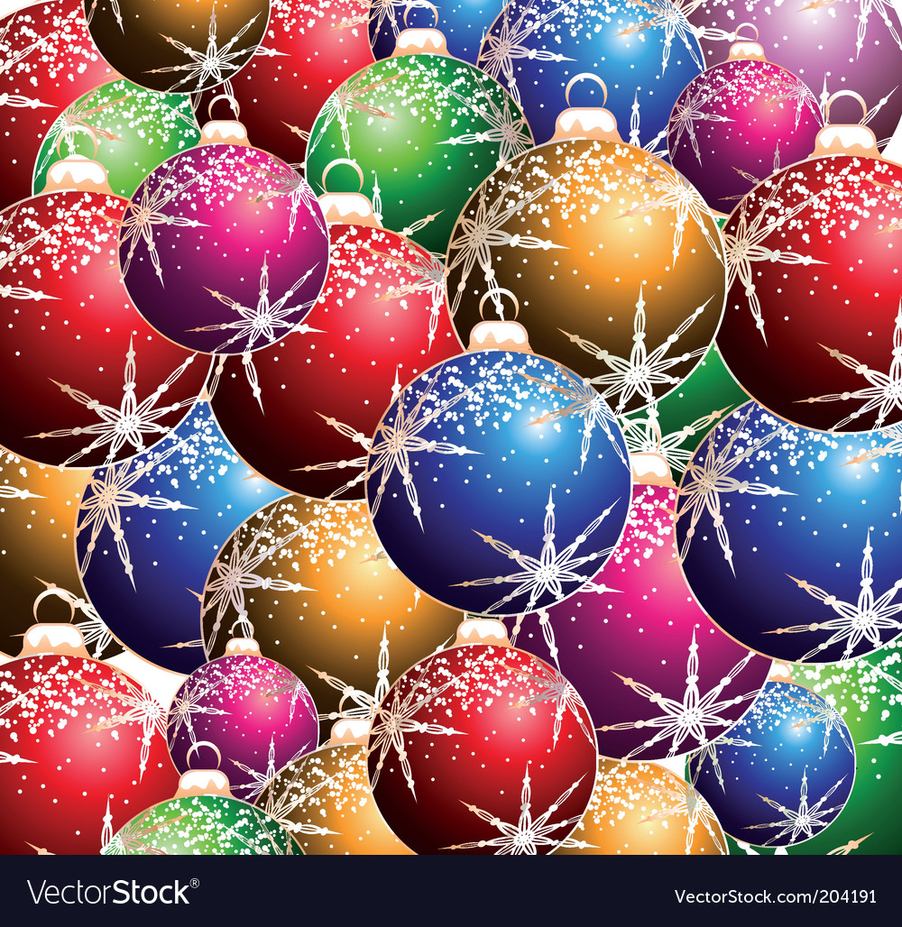 Christmas ball background vector | Price: 3 Credit (USD $3)