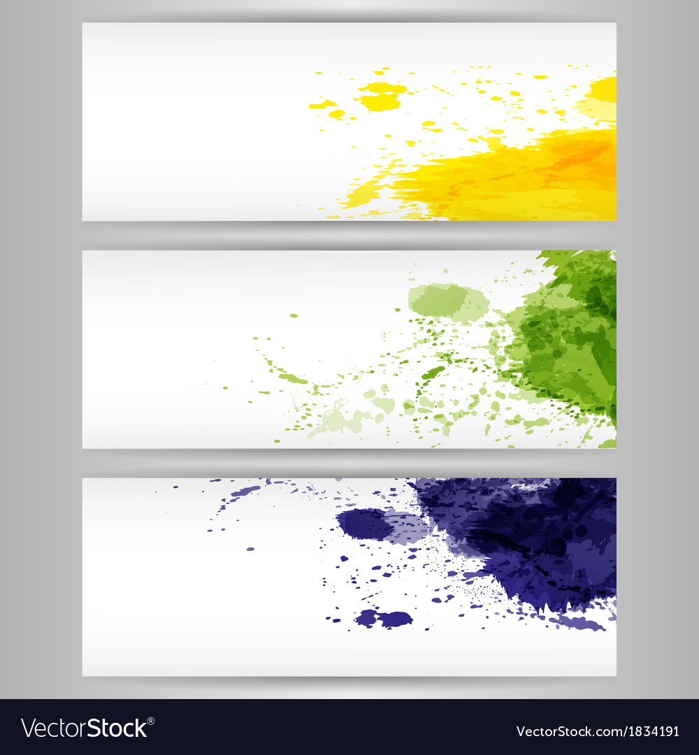 Color paint splashes background vector | Price: 1 Credit (USD $1)