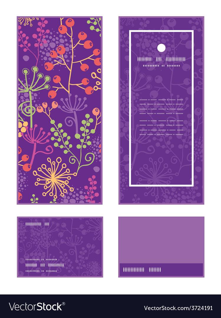 Colorful garden plants vertical frame vector | Price: 1 Credit (USD $1)