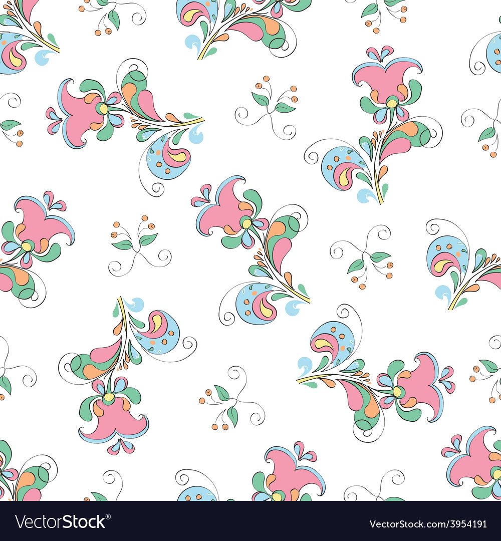 Elegant background of flowers in a rustic style vector | Price: 1 Credit (USD $1)