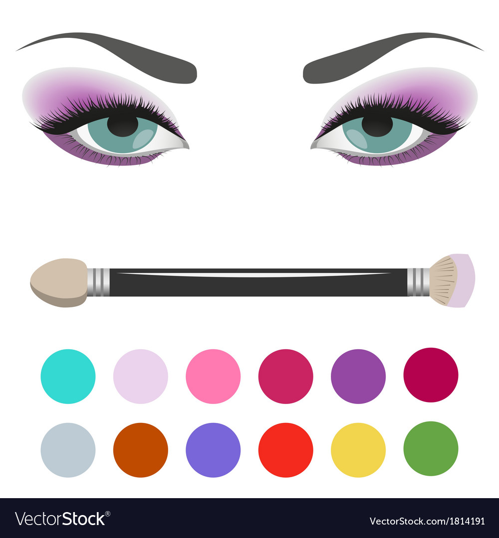 Eyeshadow palette eye makeup vector | Price: 1 Credit (USD $1)