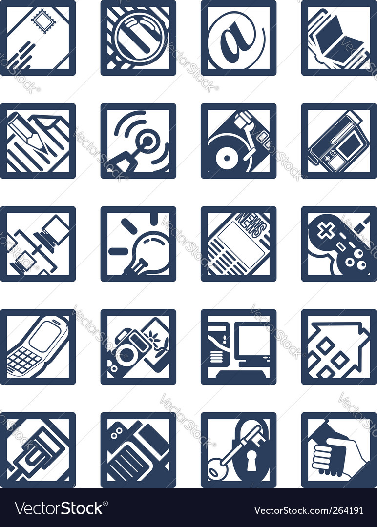 Internet computer icons vector | Price: 1 Credit (USD $1)