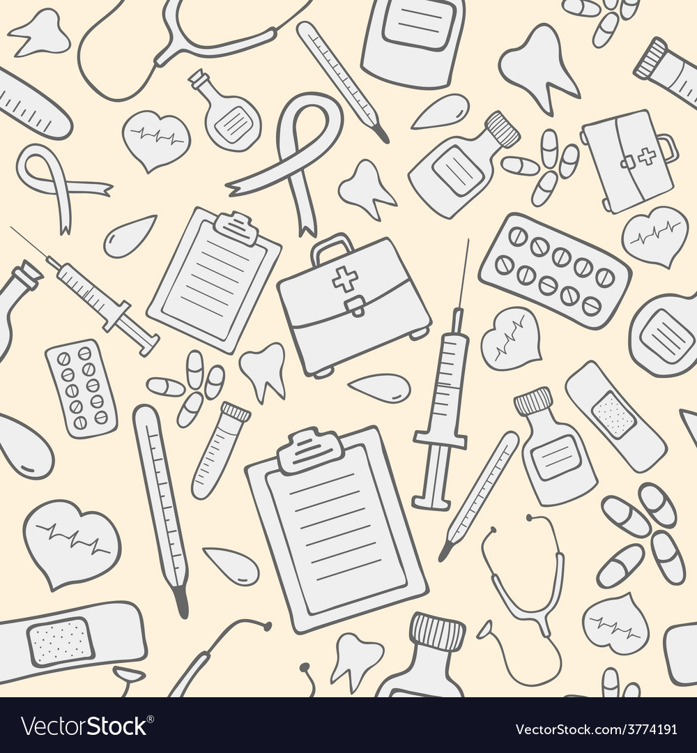 Medical seamless pattern vector | Price: 1 Credit (USD $1)