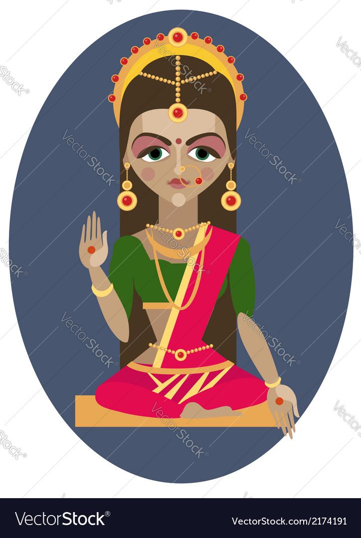 Parvati deity vector | Price: 1 Credit (USD $1)