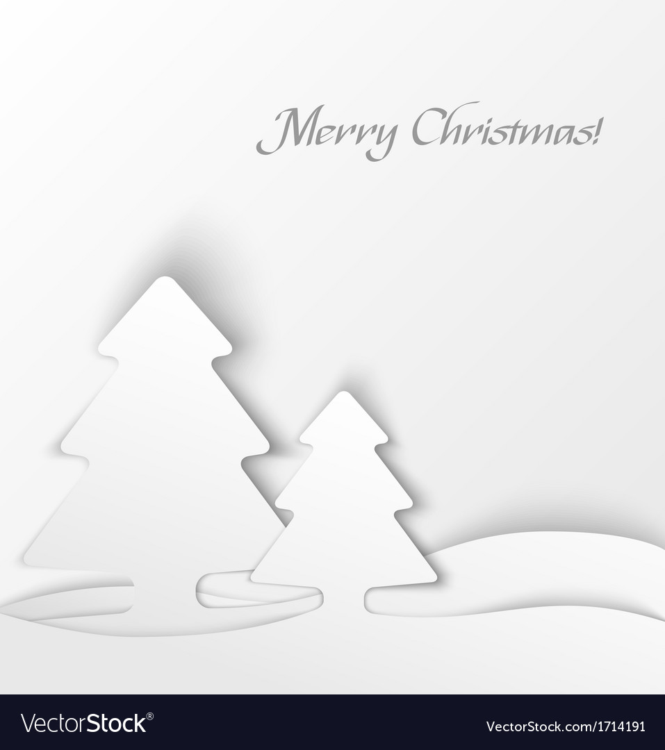 White christmas tree applique background vector | Price: 1 Credit (USD $1)