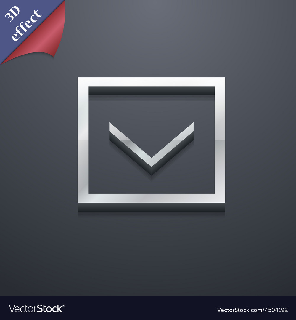 Arrow down download load backup icon symbol 3d vector   Price: 1 Credit (USD $1)