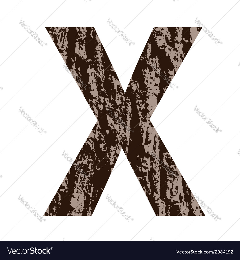Bark letter x vector | Price: 1 Credit (USD $1)