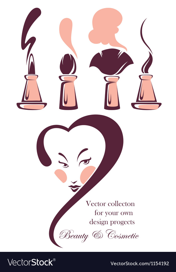 Beauty and cosmetic collection vector | Price: 1 Credit (USD $1)