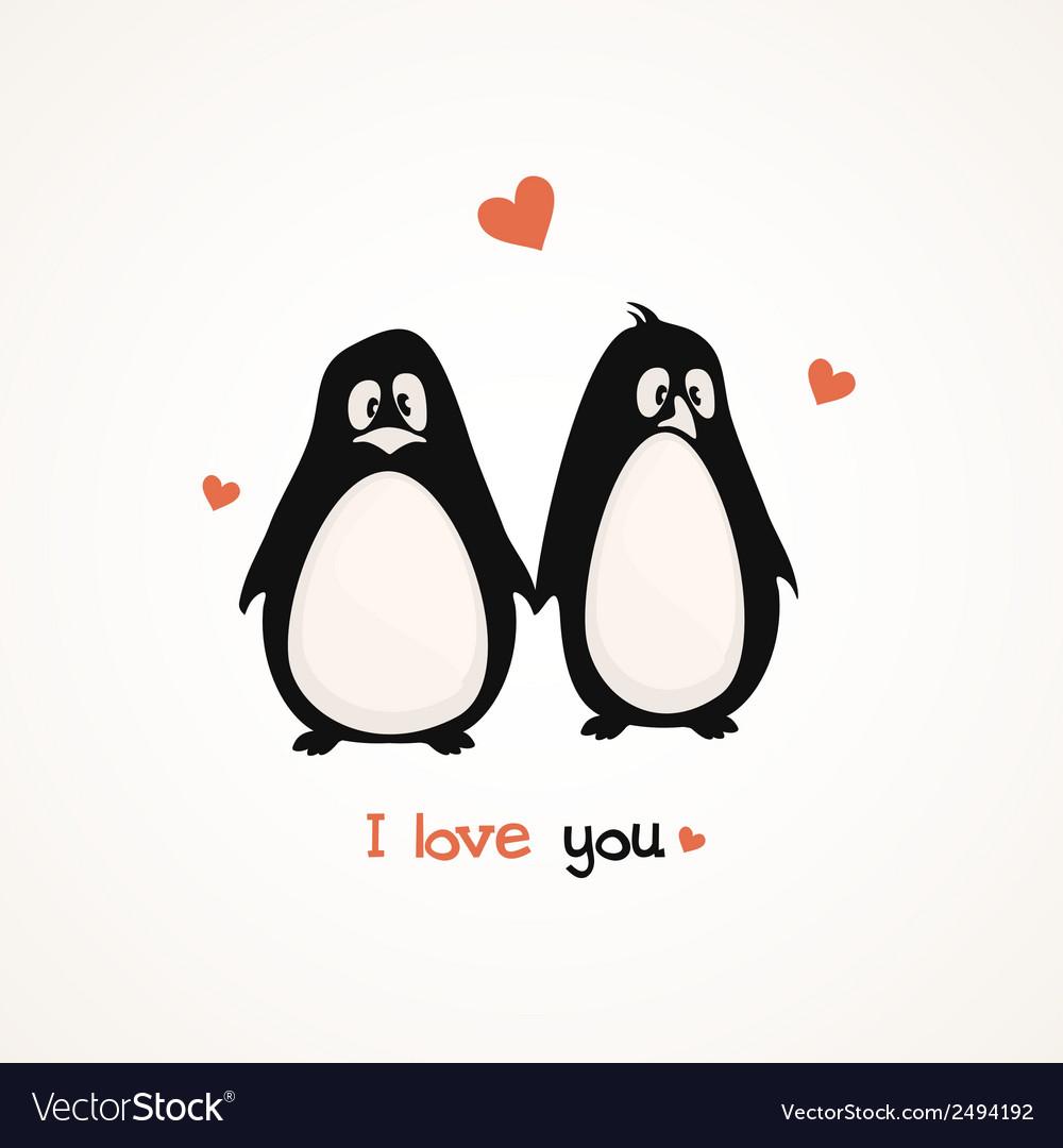 Cute penguins vector | Price: 1 Credit (USD $1)