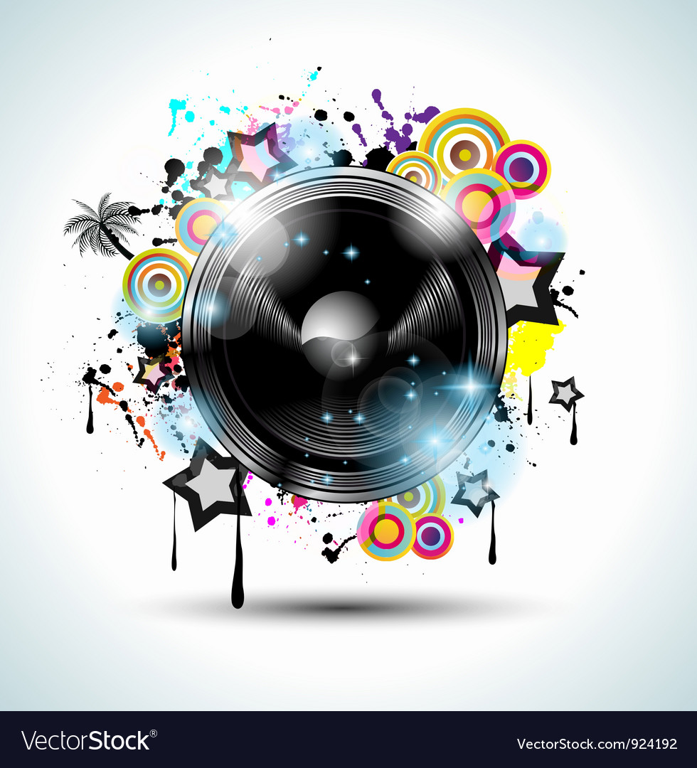 Disco poster vector | Price: 3 Credit (USD $3)