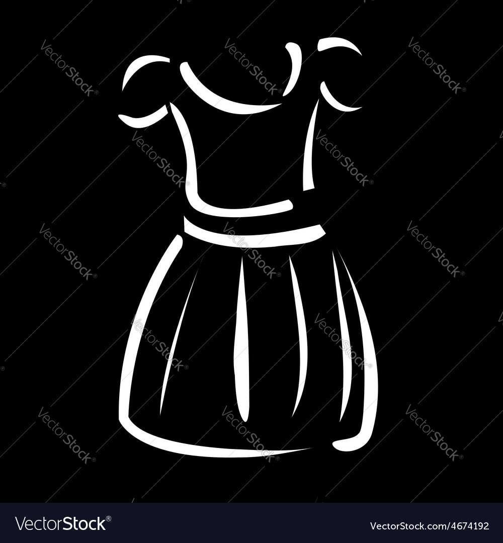 Drawing of a pinafore- apparel logo vector | Price: 1 Credit (USD $1)