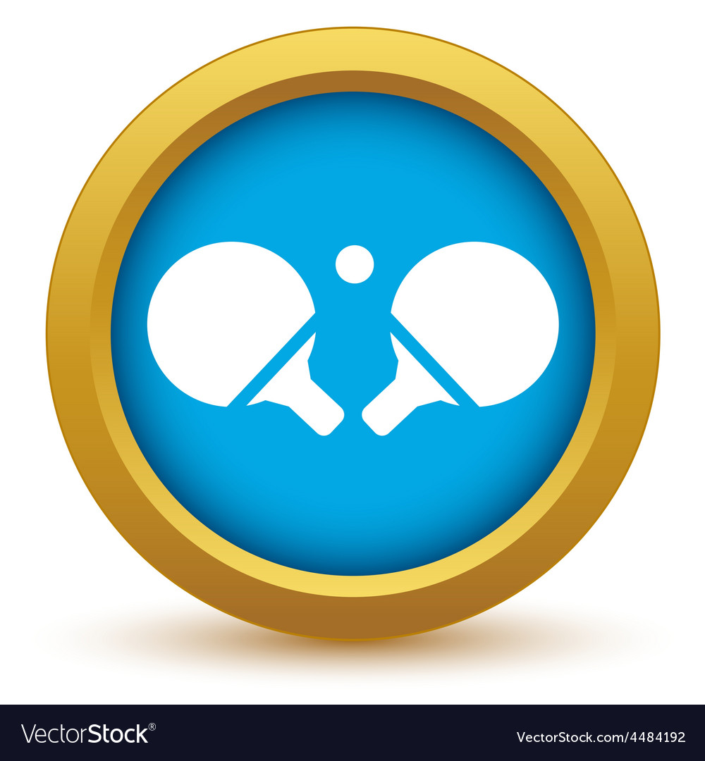 Gold table tennis icon vector | Price: 1 Credit (USD $1)