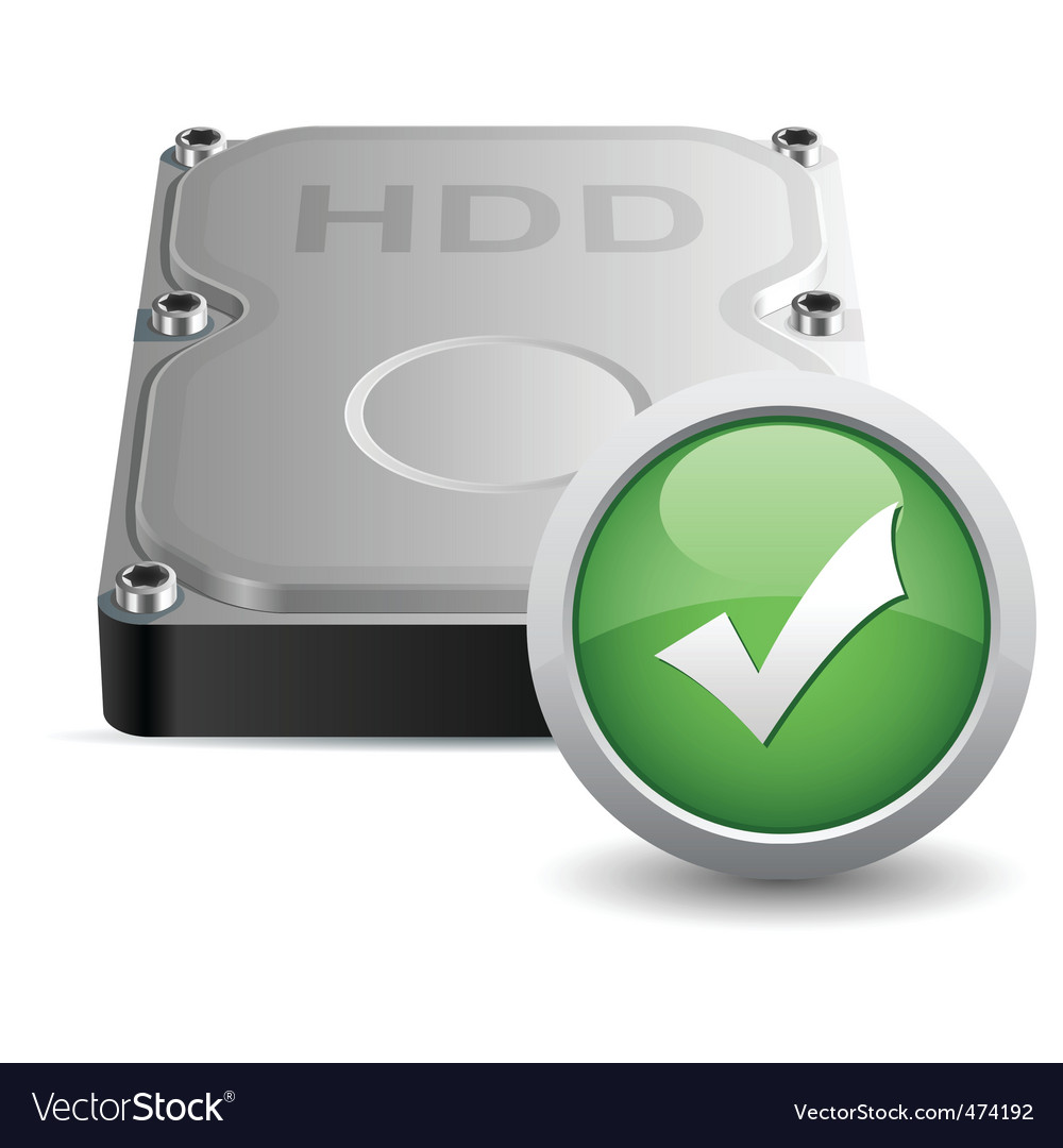 Hard disk drive vector | Price: 1 Credit (USD $1)