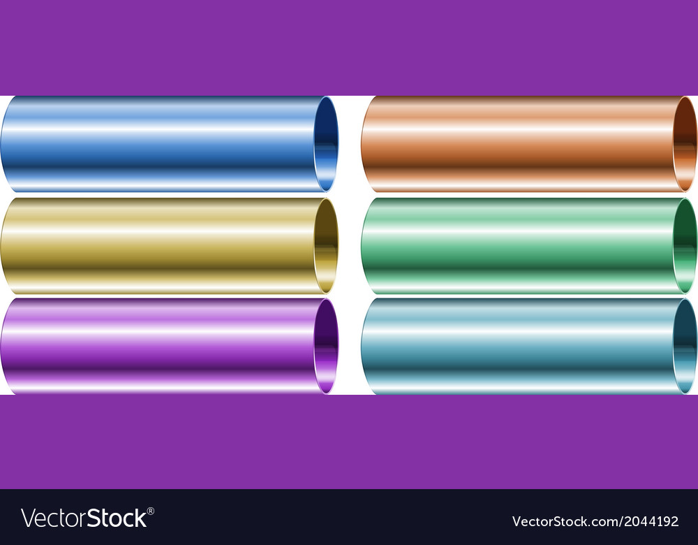 Neon colored pipes vector | Price: 1 Credit (USD $1)